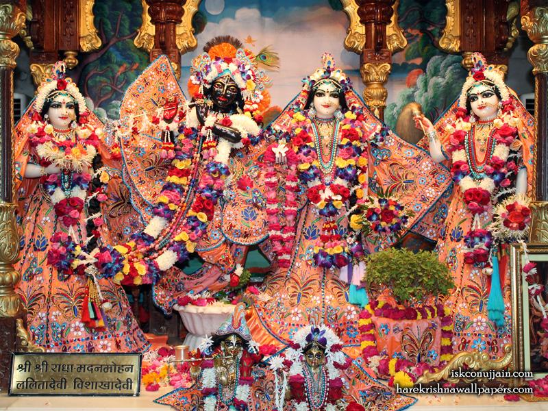 Sri Sri Radha Madanmohan Lalita Vishakha Wallpaper (007) Size 800x600 Download