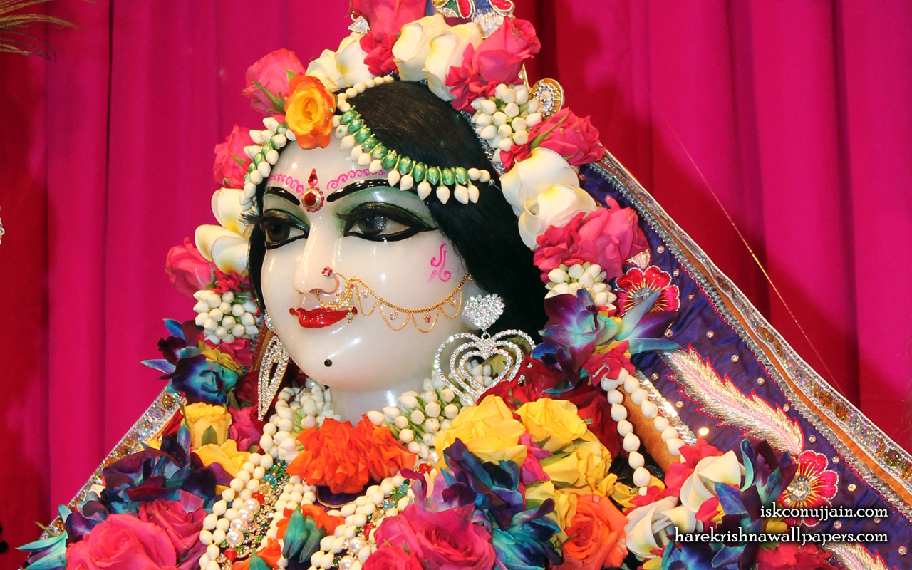 Sri Radha Close up Wallpaper (008) Size 1280x800 Download