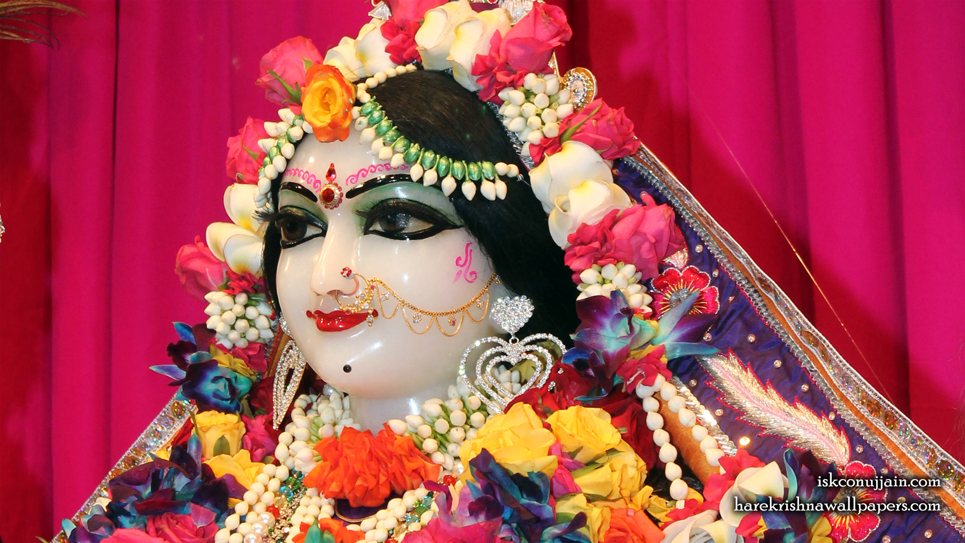 Sri Radha Close up Wallpaper (008) Size 1920x1080 Download