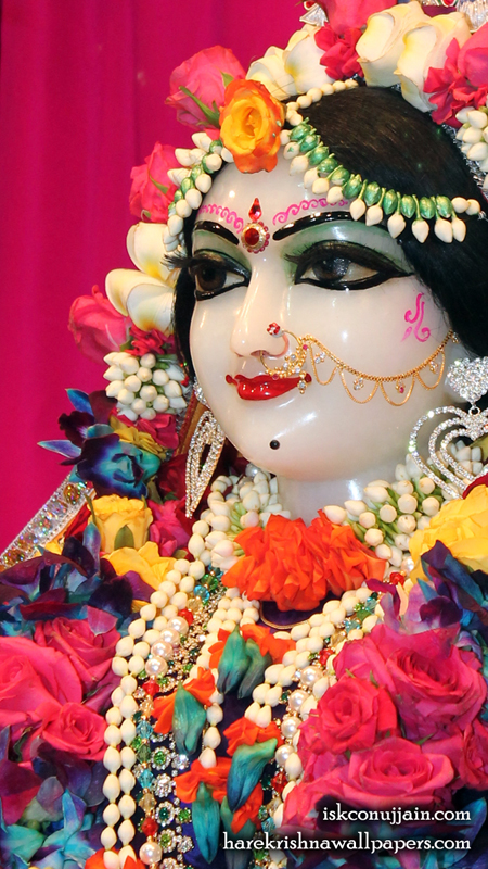 Sri Radha Close up Wallpaper (008) Size 450x800 Download