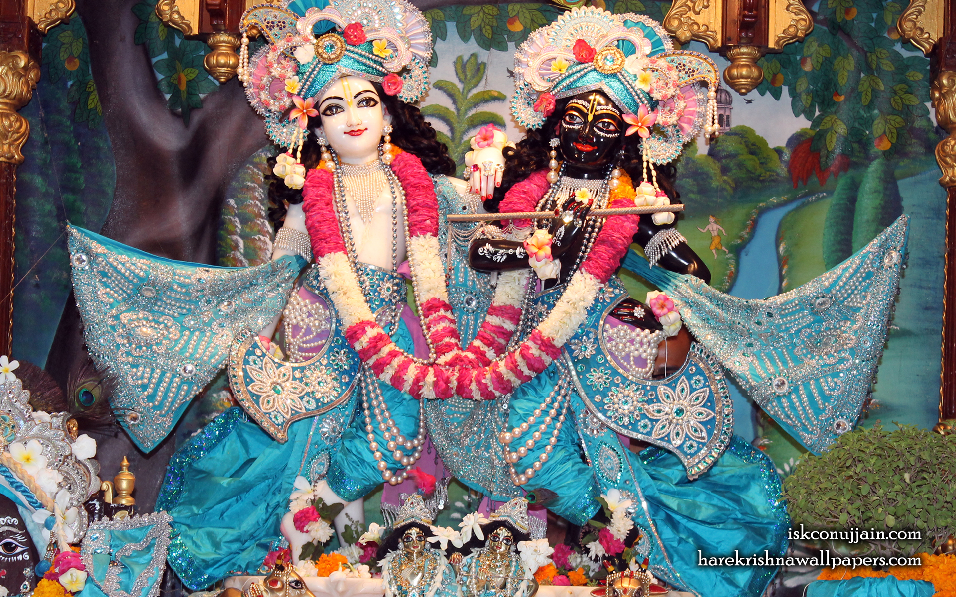 Sri Sri Krishna Balaram Wallpaper (008) Size 1920x1200 Download