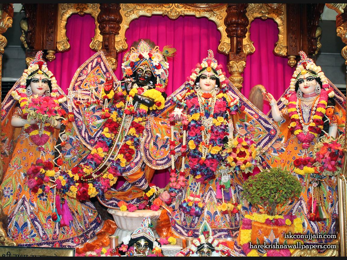 Sri Sri Radha Madanmohan Lalita Vishakha Wallpaper (008) Size 1152x864 Download