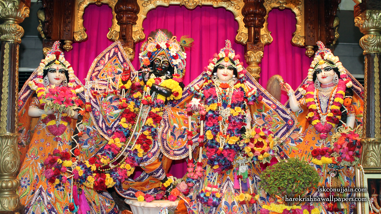Sri Sri Radha Madanmohan Lalita Vishakha Wallpaper (008) Size 1280x720 Download