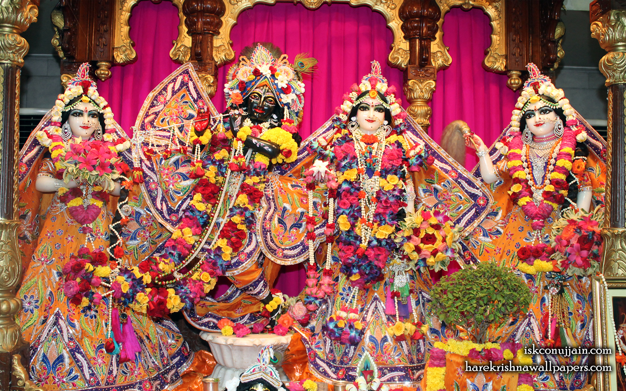 Sri Sri Radha Madanmohan Lalita Vishakha Wallpaper (008) Size 1280x800 Download