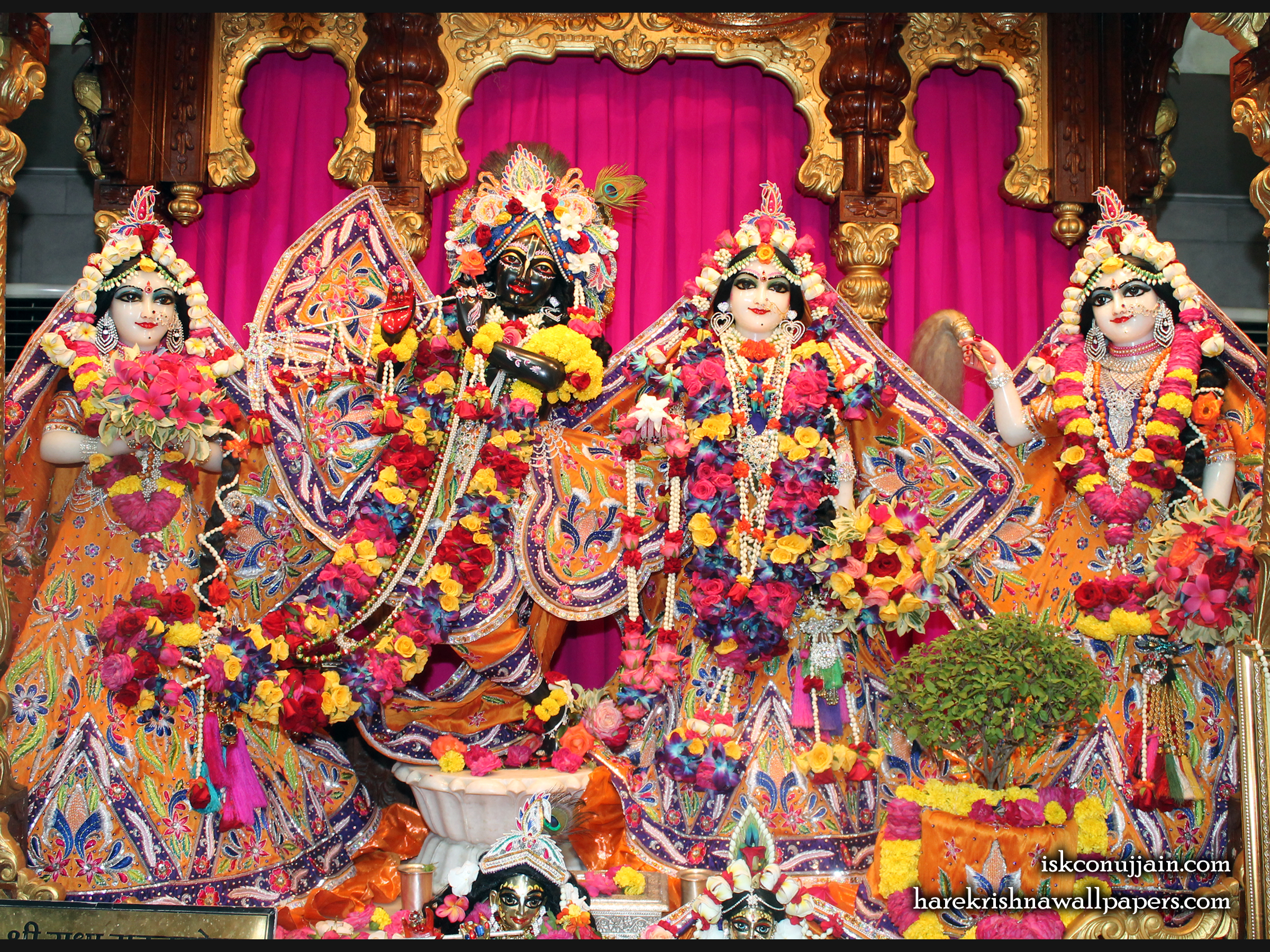Sri Sri Radha Madanmohan Lalita Vishakha Wallpaper (008) Size 2400x1800 Download