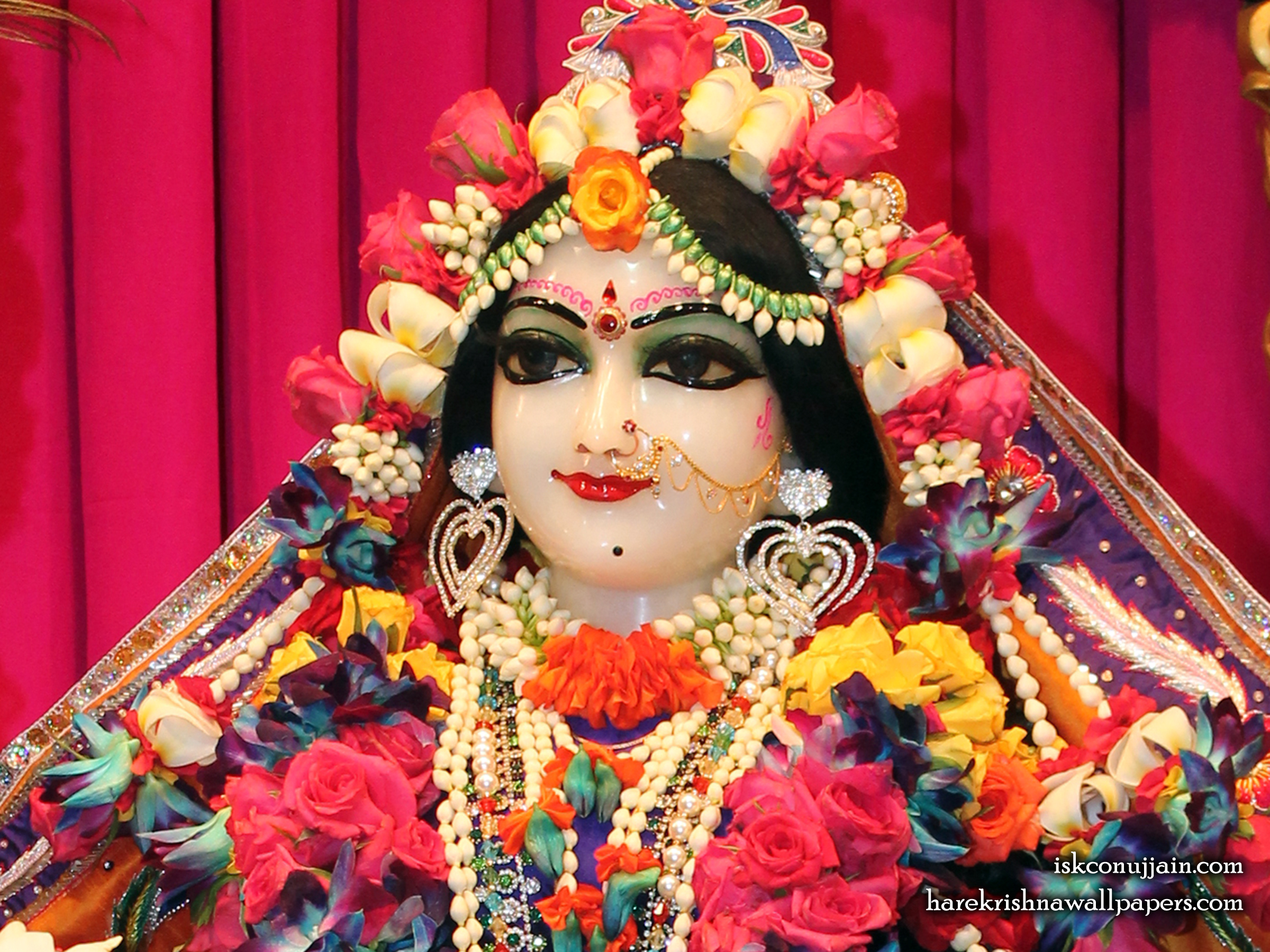 Sri Radha Close up Wallpaper (009) Size 2400x1800 Download