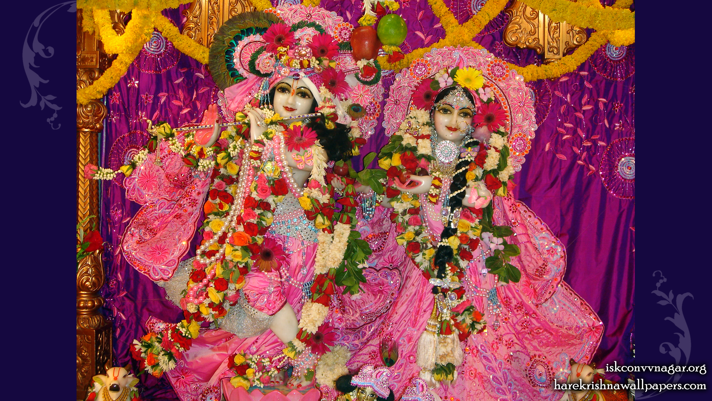 Sri Sri Radha Giridhari Wallpaper (002) Size 2400x1350 Download