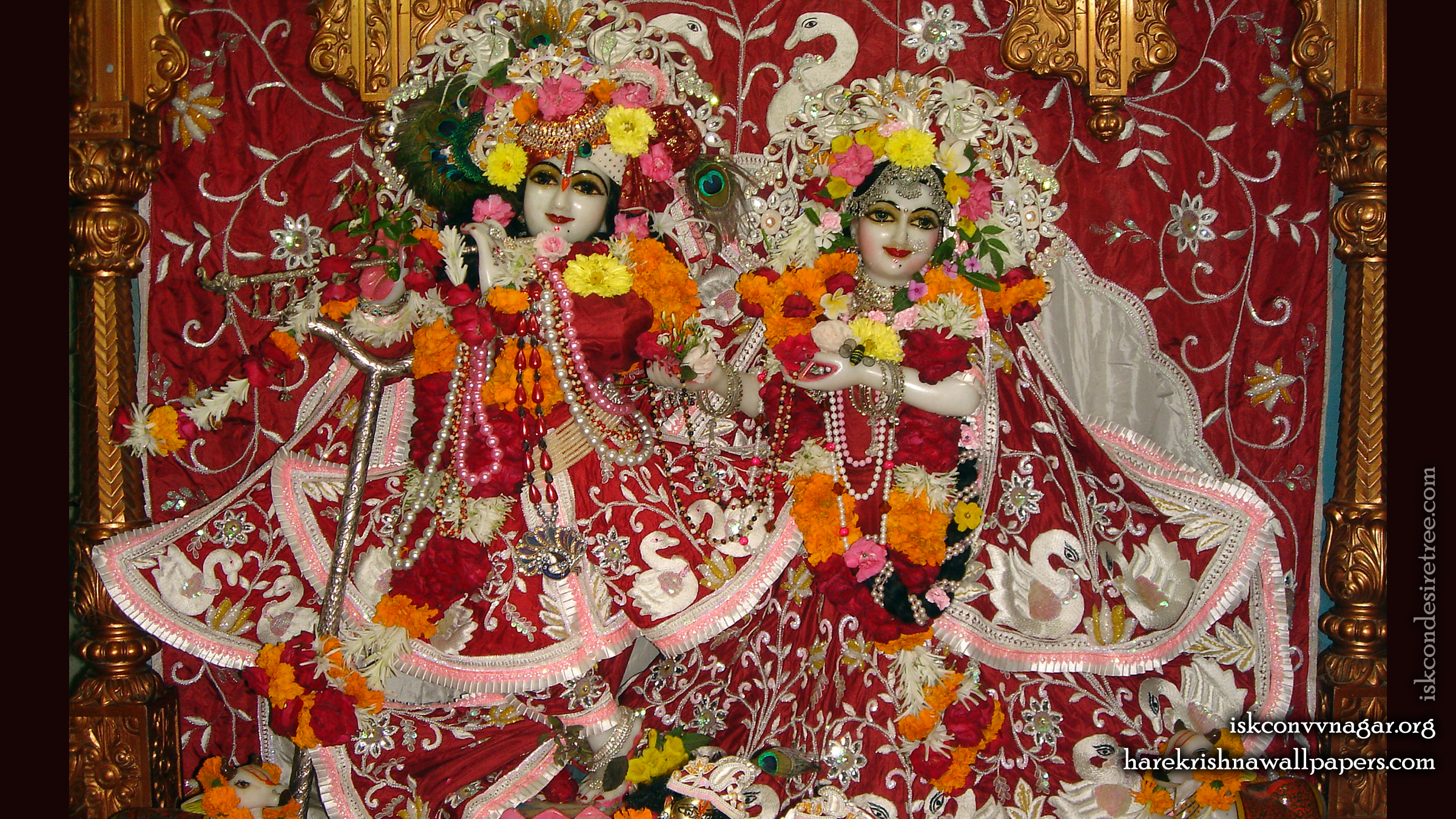 Sri Sri Radha Giridhari Wallpaper (012) Size 2400x1350 Download
