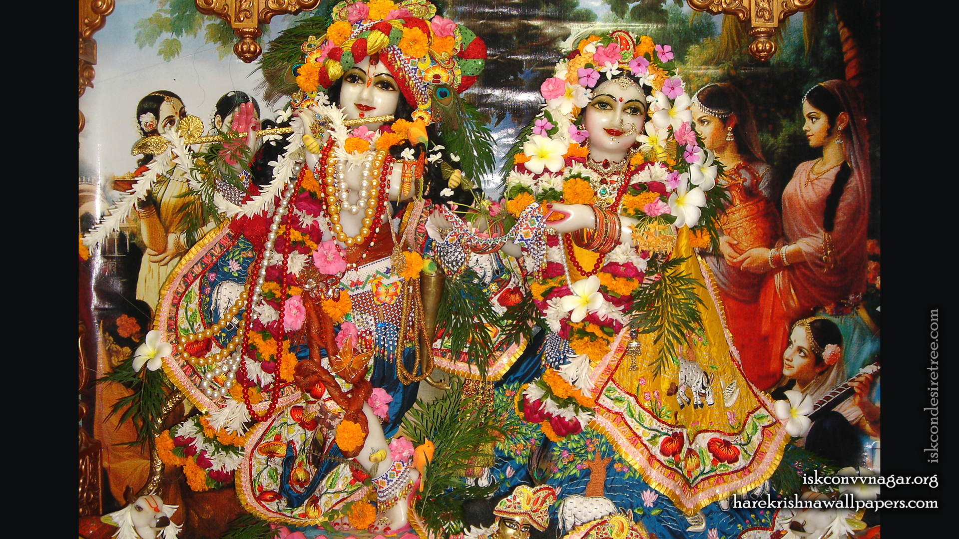Sri Sri Radha Giridhari Wallpaper (017) Size 1920x1080 Download