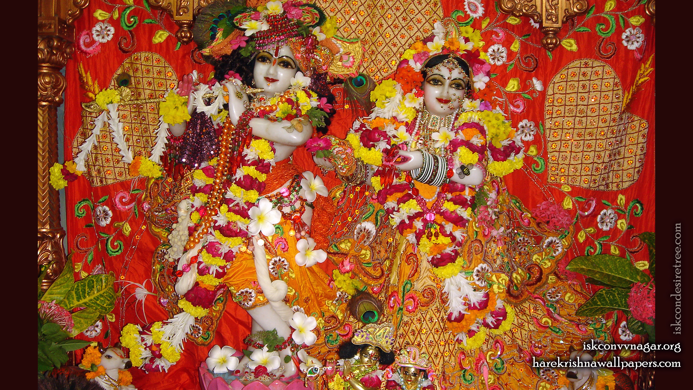 Sri Sri Radha Giridhari Wallpaper (028) Size 2400x1350 Download