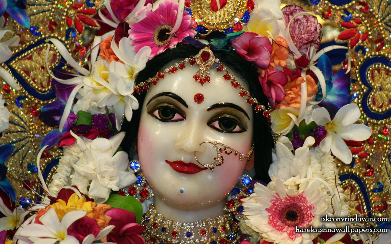 Sri Radha Close up Wallpaper (004) Size 1440x900 Download