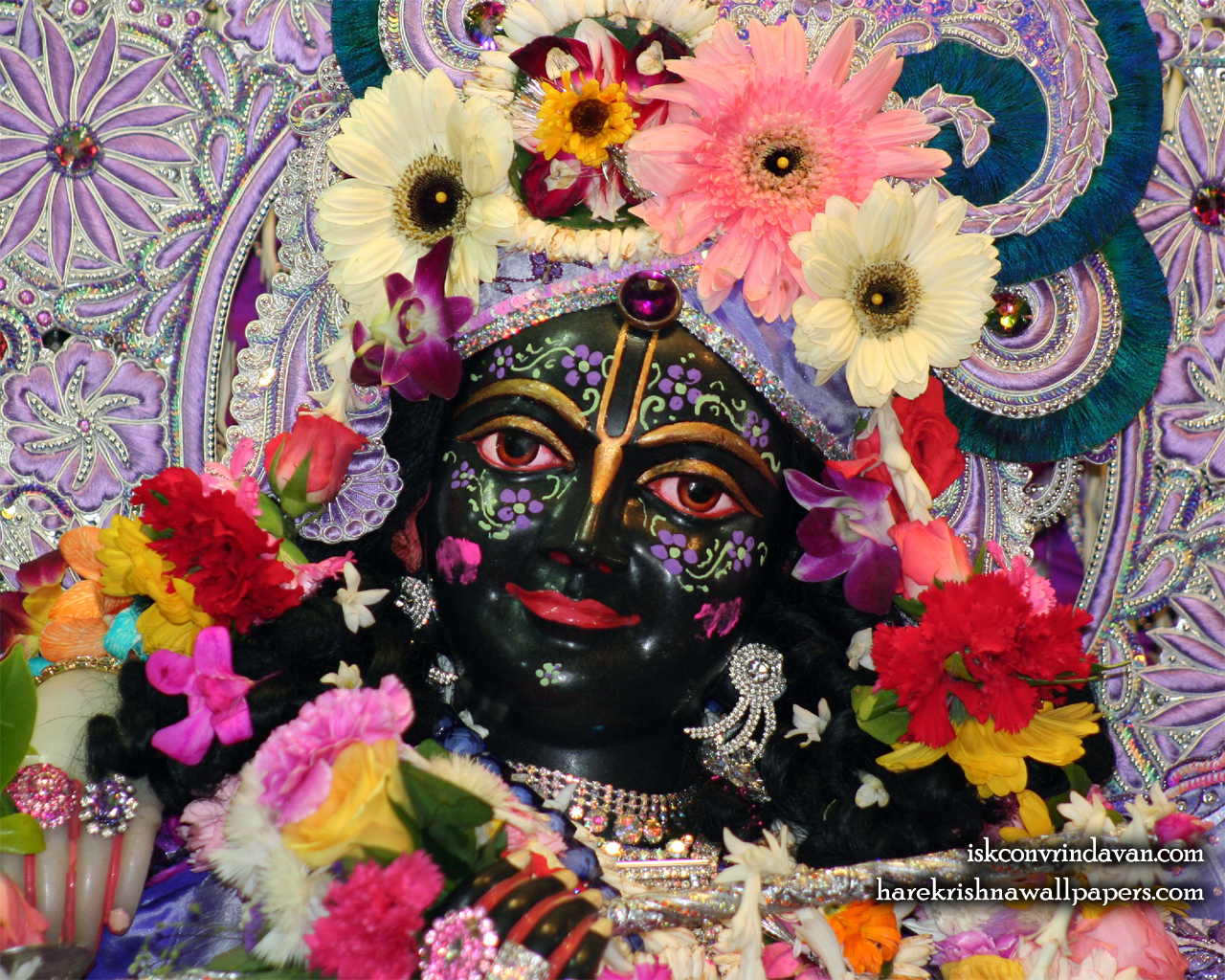 Sri Krishna Close up Wallpaper (001) Size 1280x1024 Download