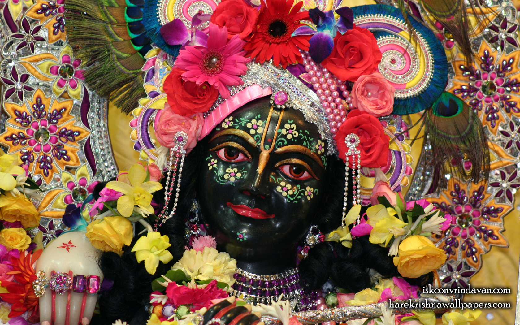 Sri Krishna Close up Wallpaper (002) Size 1680x1050 Download