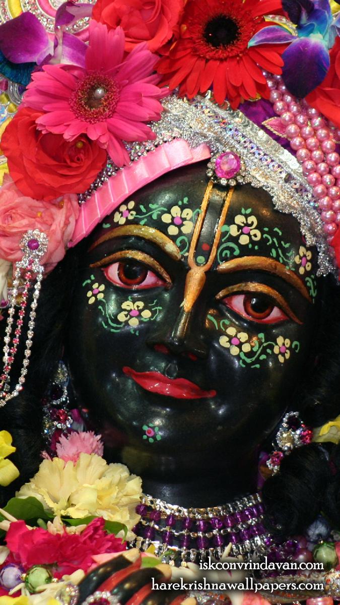 Sri Krishna Close up Wallpaper (002) Size 675x1200 Download
