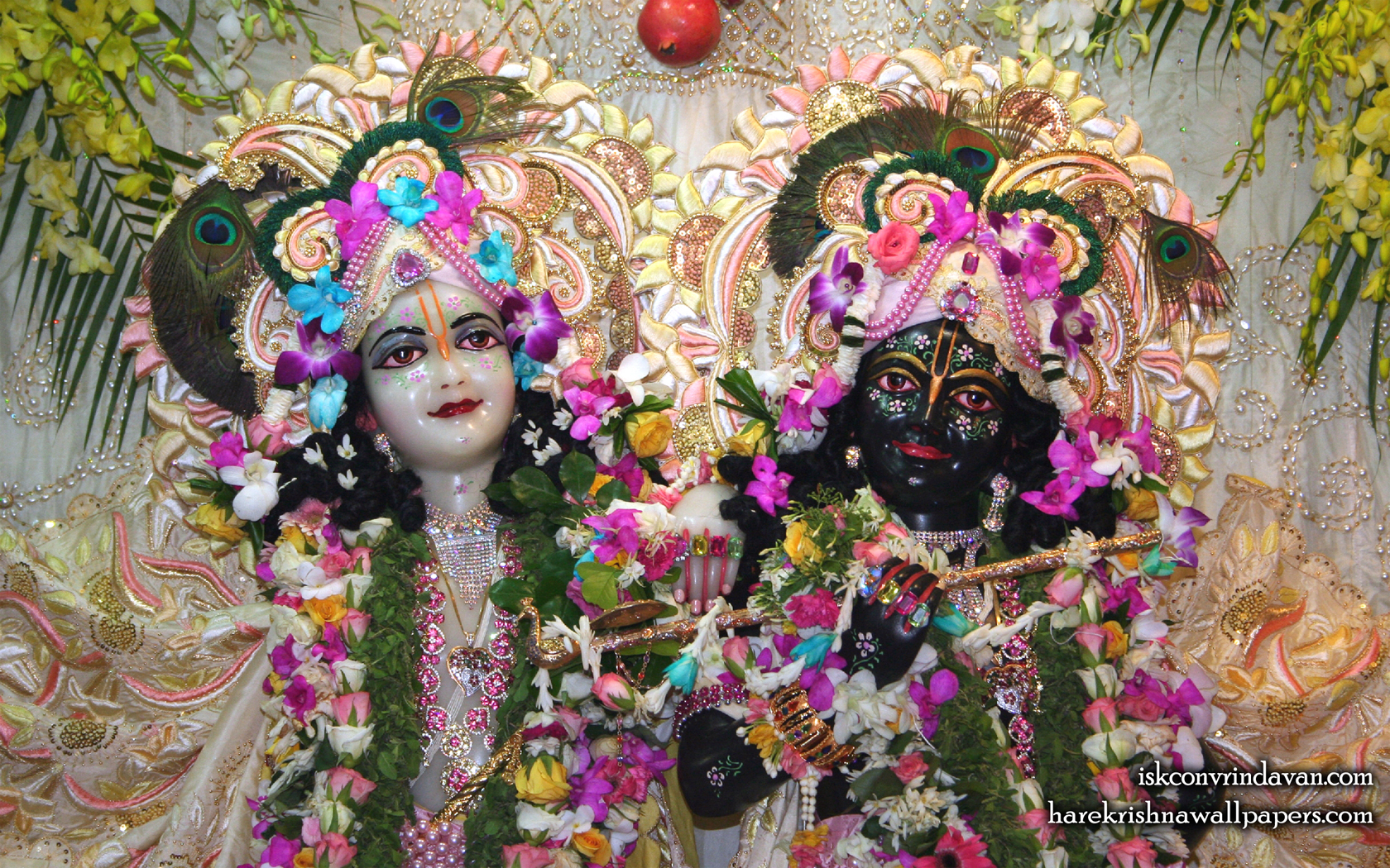 Sri Sri Krishna Balaram Close up Wallpaper (002) Size 1680x1050 Download