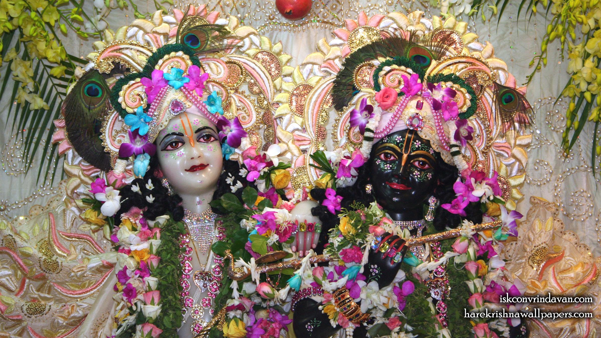 Sri Sri Krishna Balaram Close up Wallpaper (002) Size 2400x1350 Download