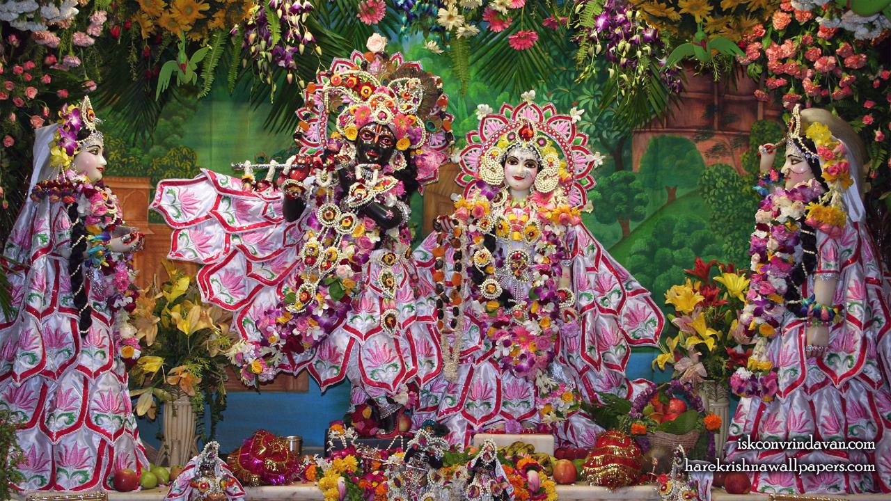Sri Sri Radha Shyamsundar with Lalita Vishakha Wallpaper (002) Size1280x720 Download