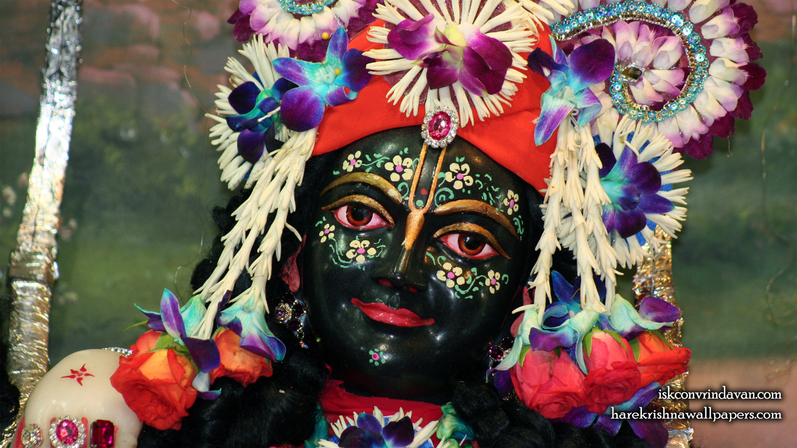 Sri Krishna Close up Wallpaper (003) Size 1600x900 Download