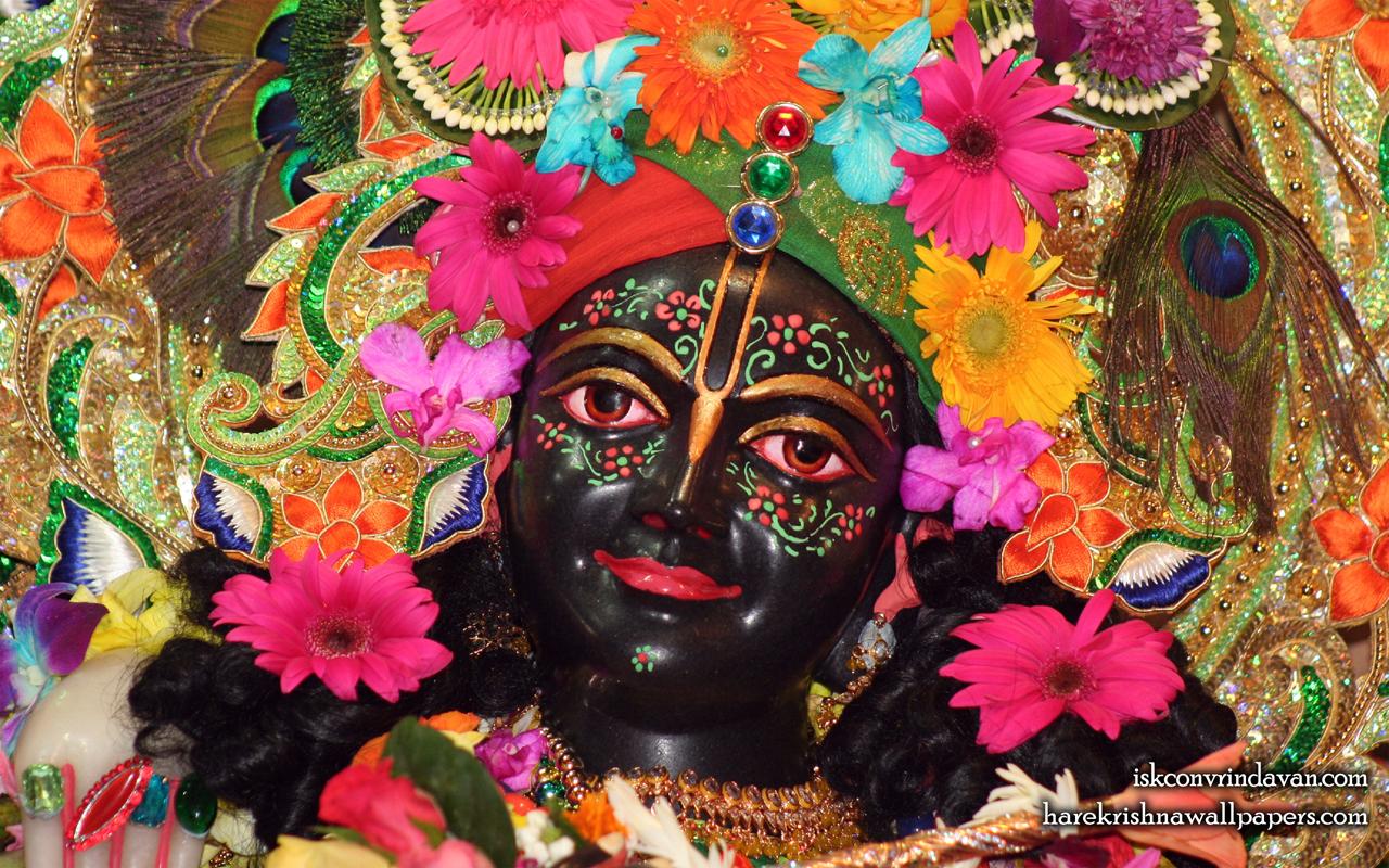 Sri Krishna Close up Wallpaper (004) Size 1280x800 Download
