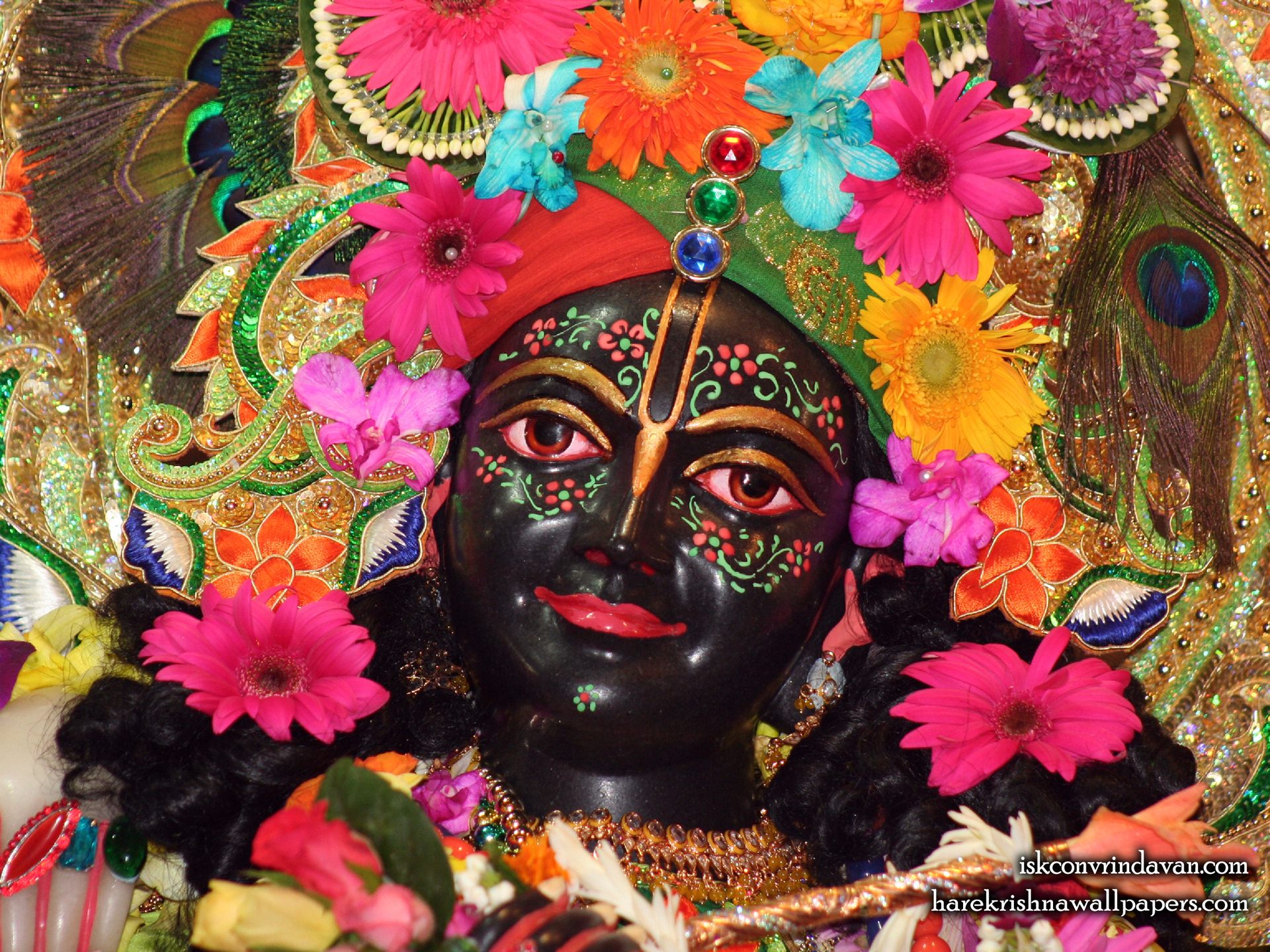Sri Krishna Close up Wallpaper (004) Size 1920x1440 Download