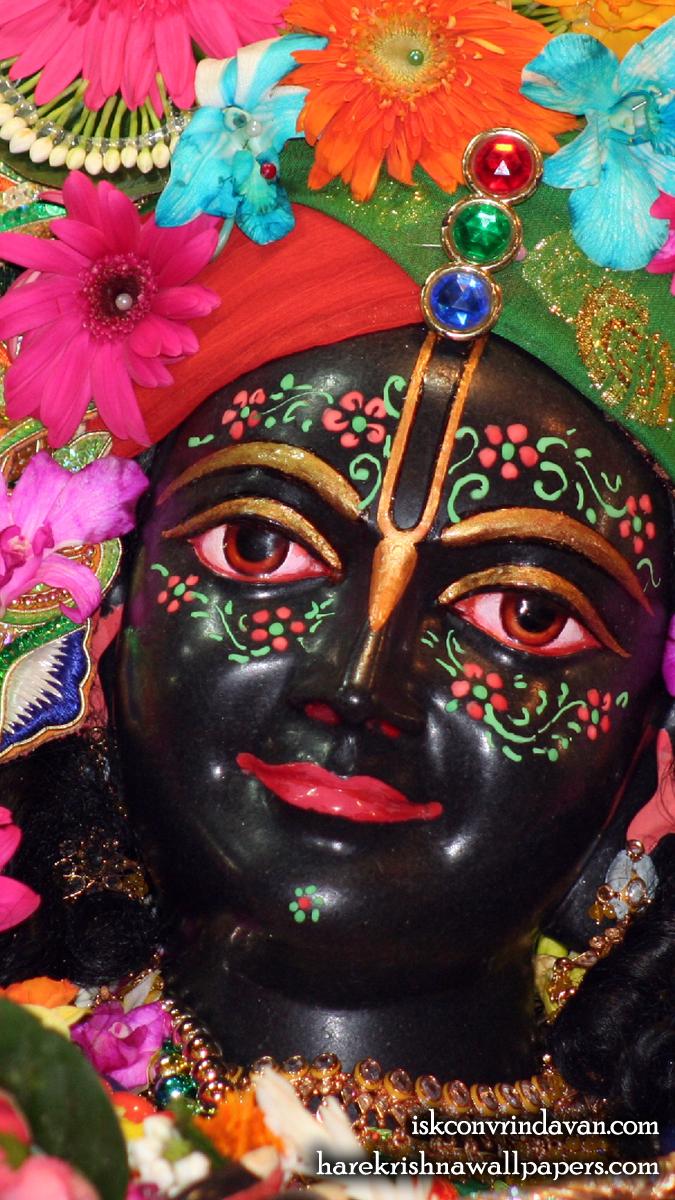 Sri Krishna Close up Wallpaper (004) Size 675x1200 Download