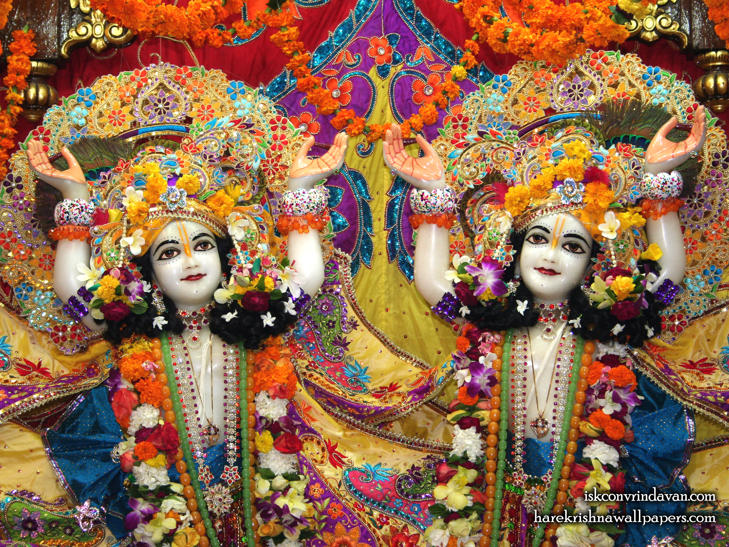 Sri Sri Gaura Nitai Close up Wallpaper (004) Size 2400x1800 Download
