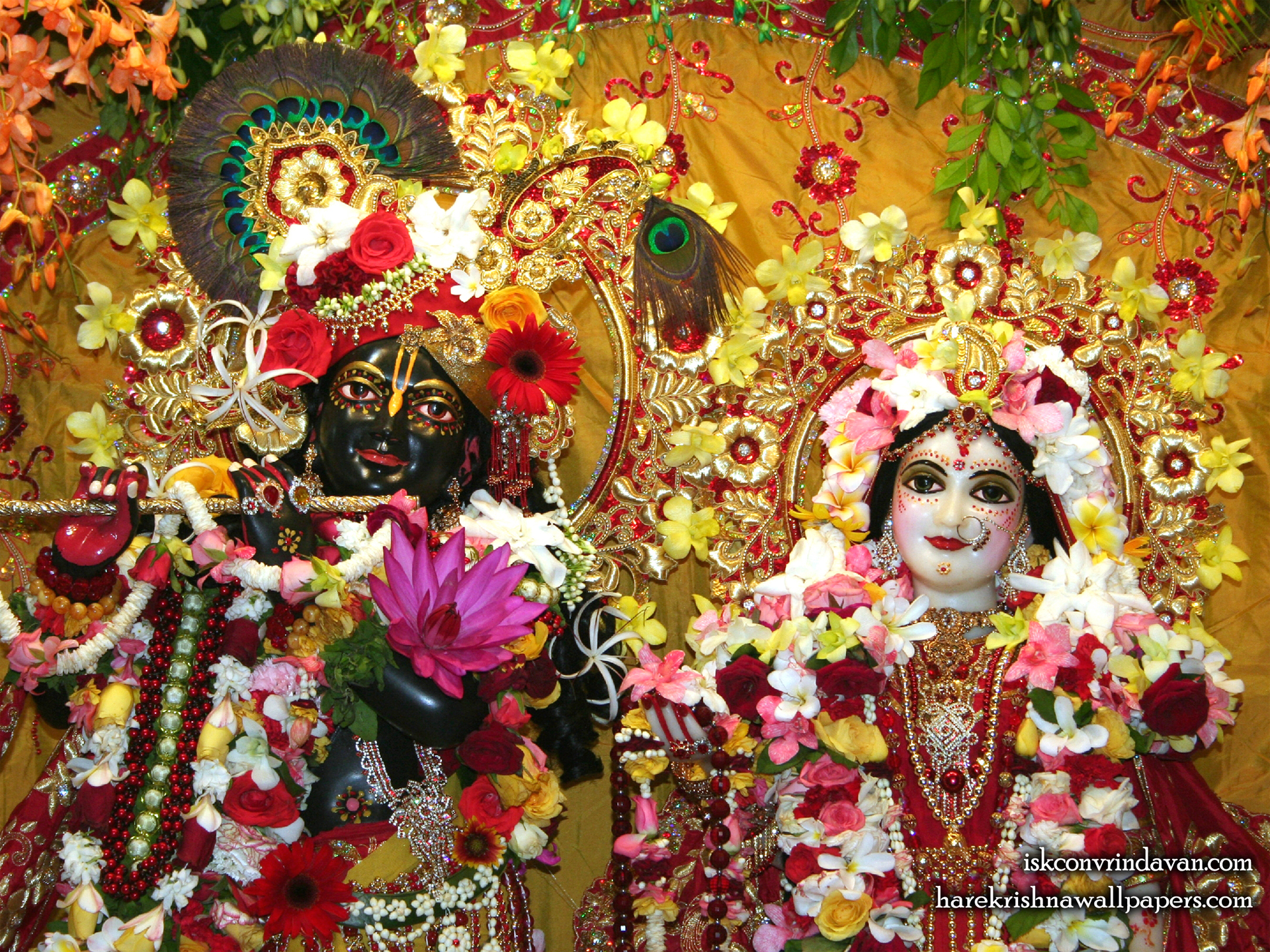Sri Sri Radha Shyamsundar Close up Wallpaper (004) Size 1920x1440 Download