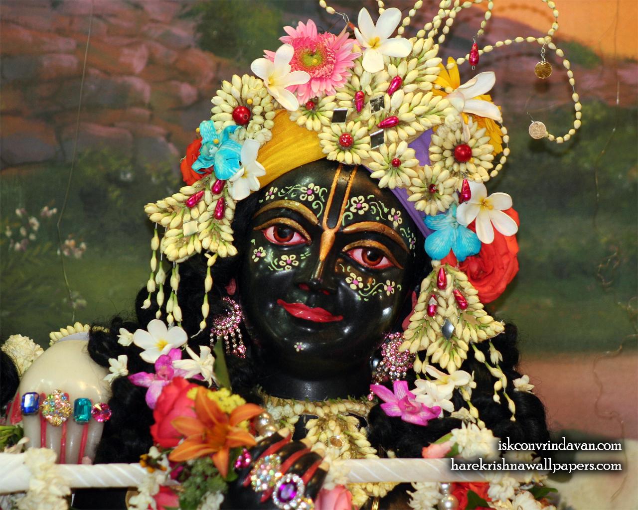 Sri Krishna Close up Wallpaper (005) Size 1280x1024 Download