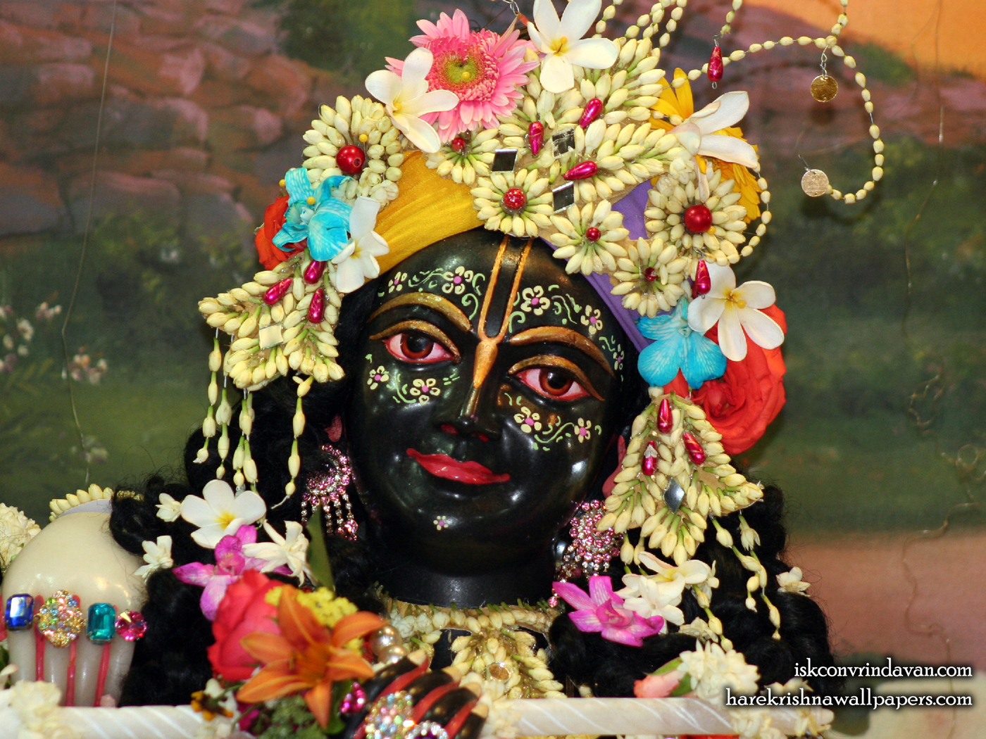 Sri Krishna Close up Wallpaper (005) Size 1400x1050 Download