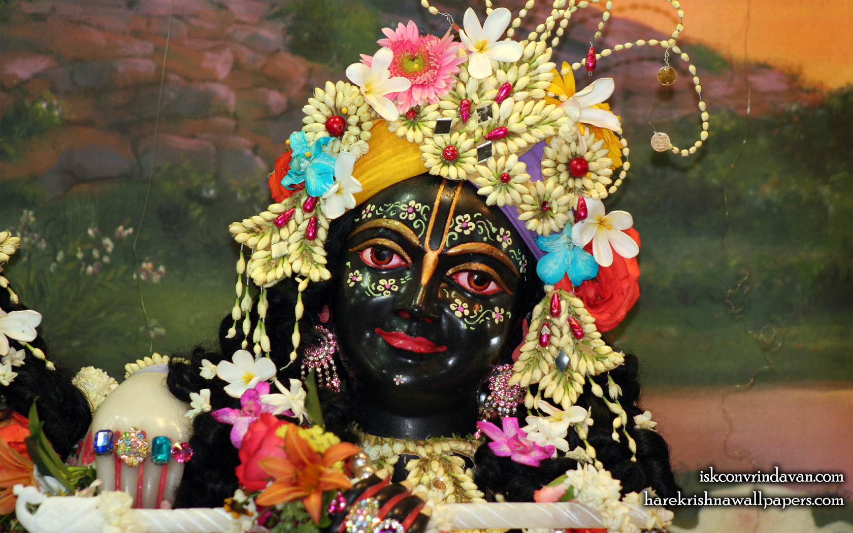 Sri Krishna Close up Wallpaper (005) Size 1680x1050 Download