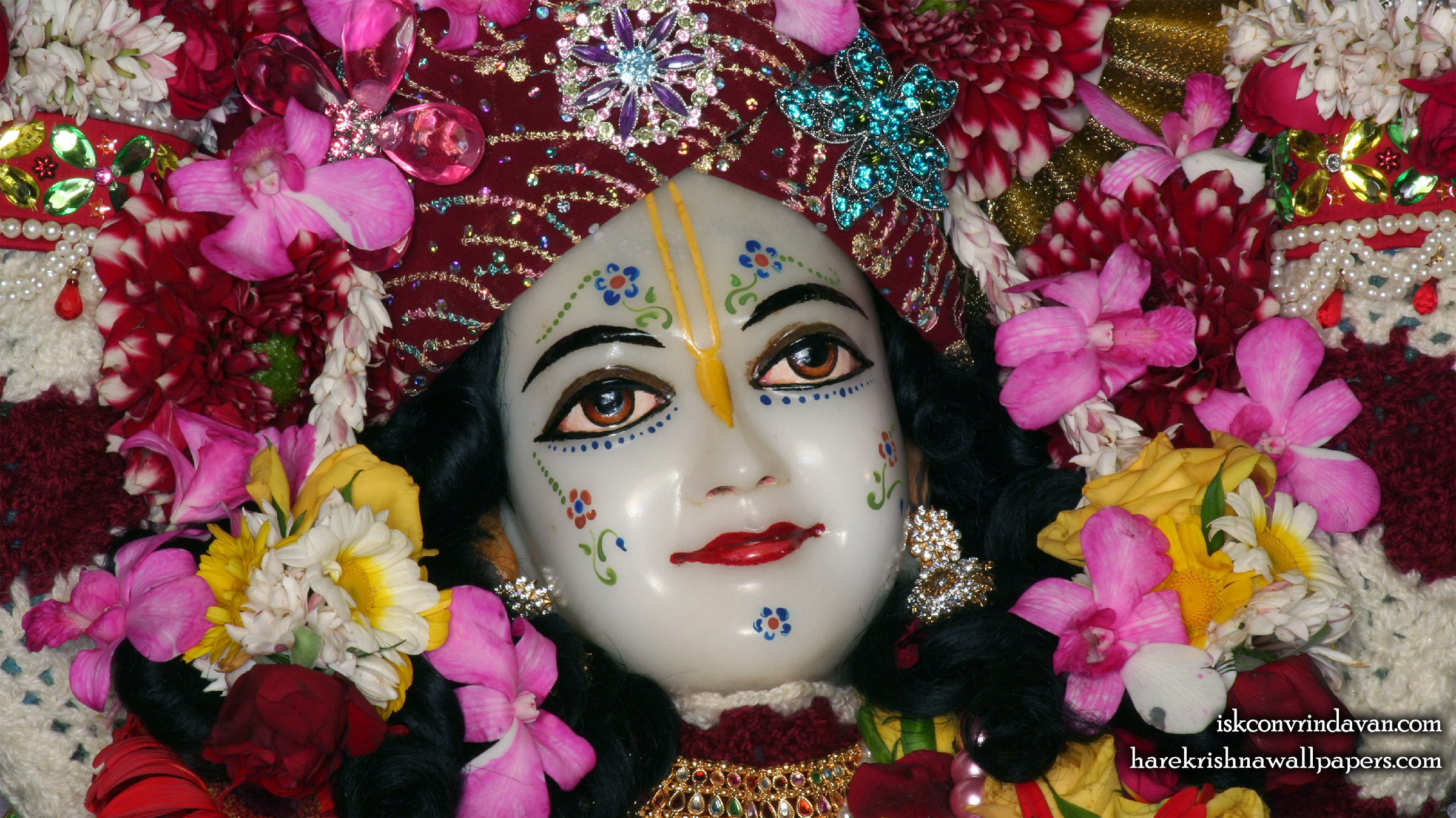 Sri Nitai Close up Wallpaper (005) Size 2400x1350 Download
