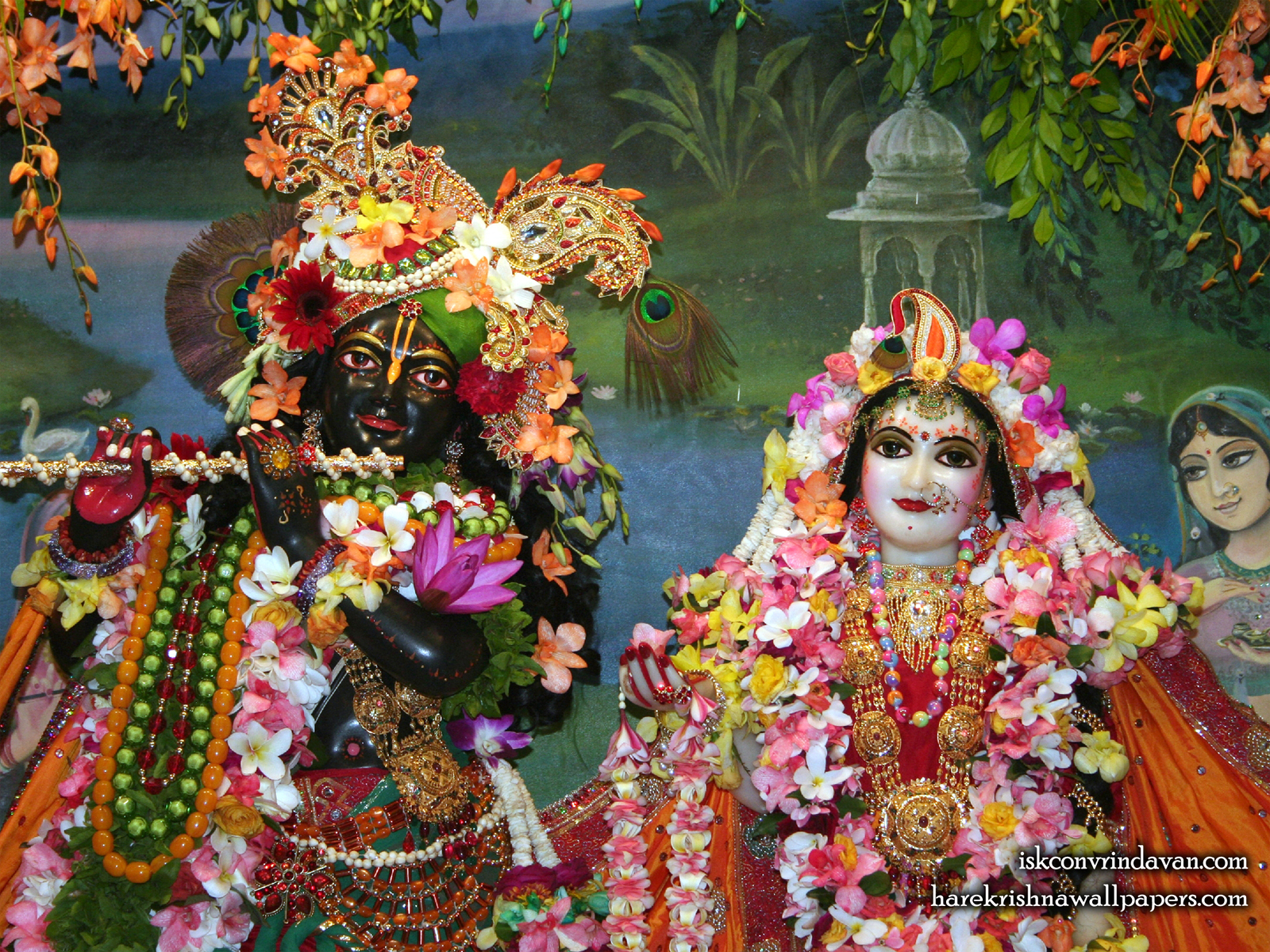 Sri Sri Radha Shyamsundar Close up Wallpaper (005) Size1600x1200 Download