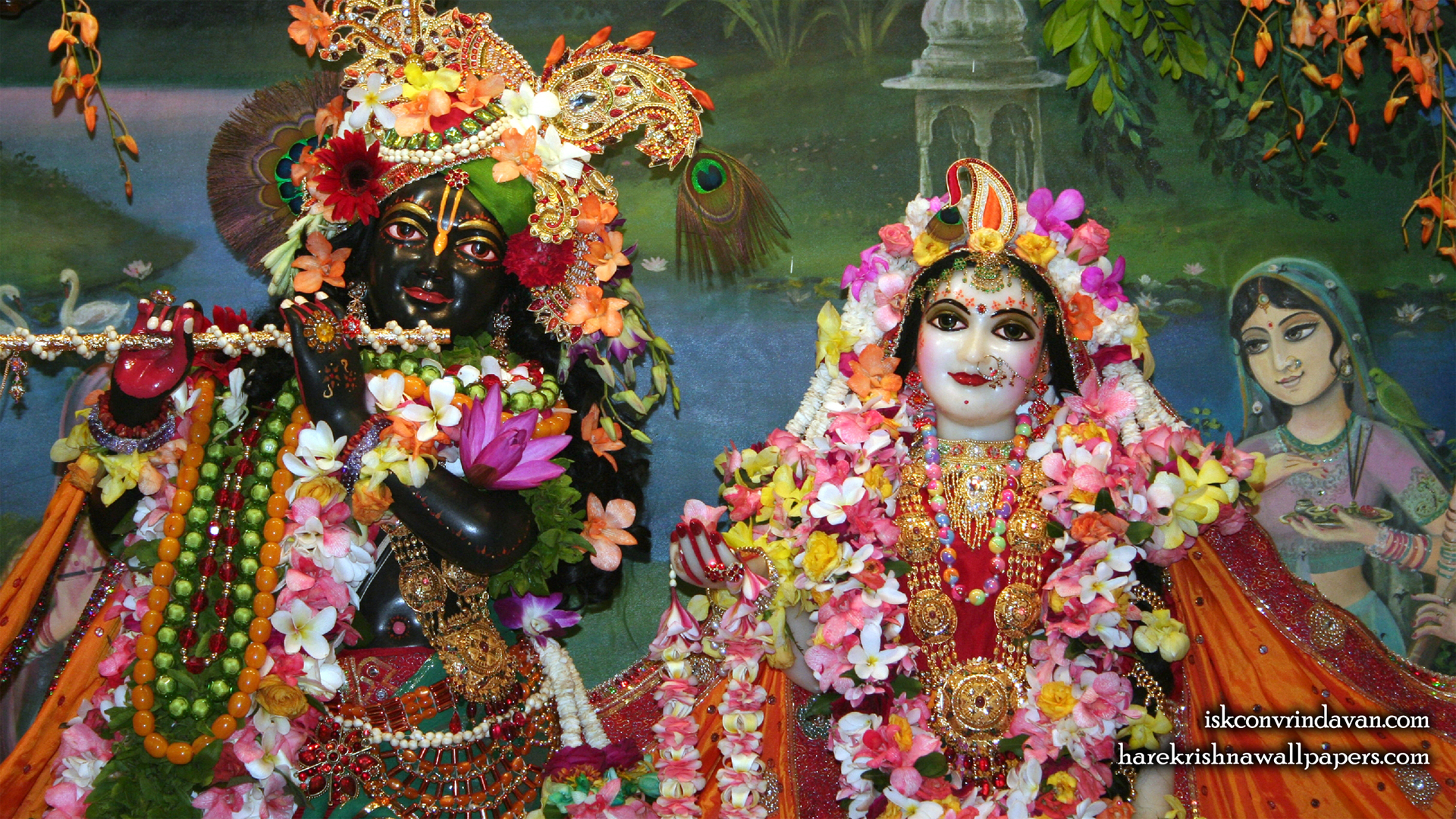 Sri Sri Radha Shyamsundar Close up Wallpaper (005) Size 1920x1080 Download