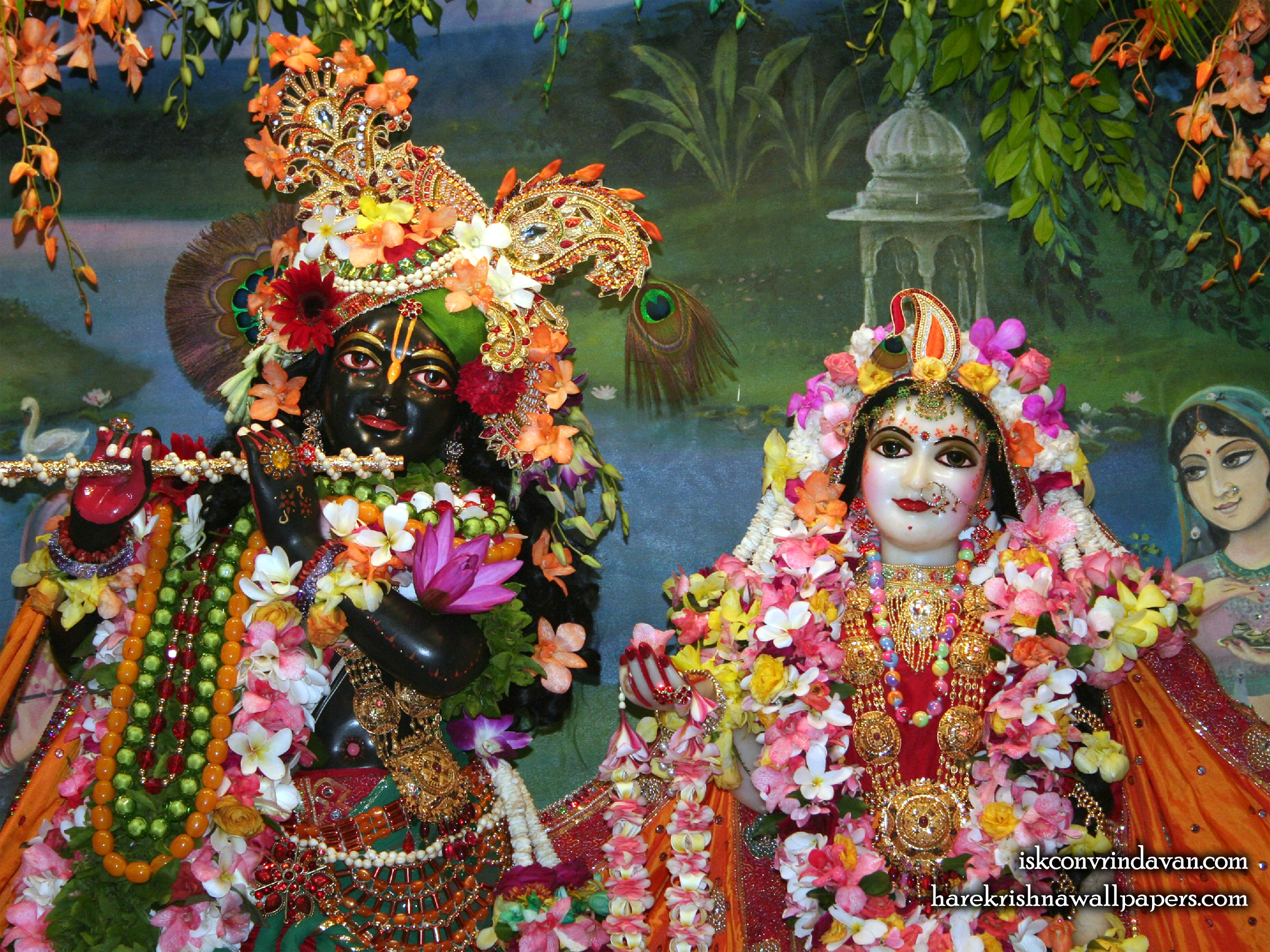 Sri Sri Radha Shyamsundar Close up Wallpaper (005) Size 2400x1800 Download