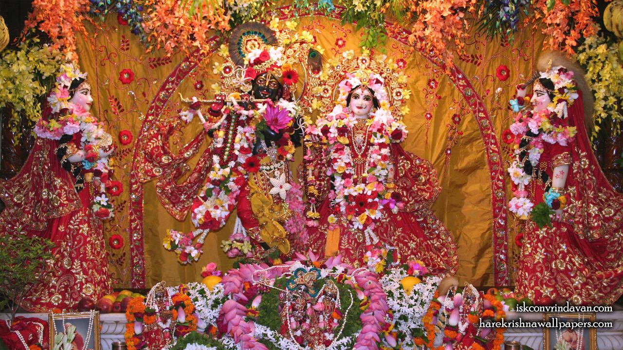 Sri Sri Radha Shyamsundar with Lalita Vishakha Wallpaper (005) Size1280x720 Download