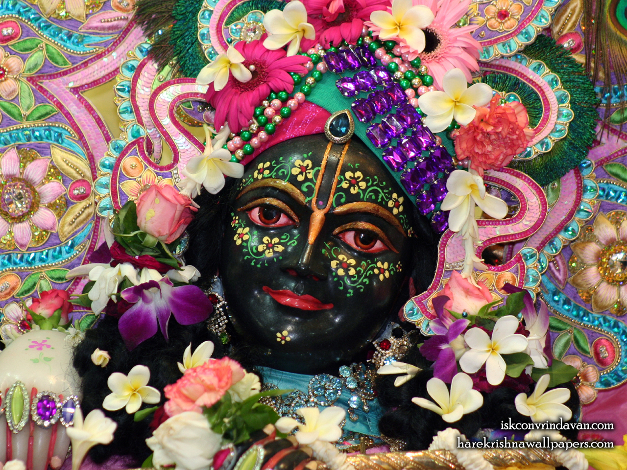 Sri Krishna Close up Wallpaper (006) Size 1280x960 Download