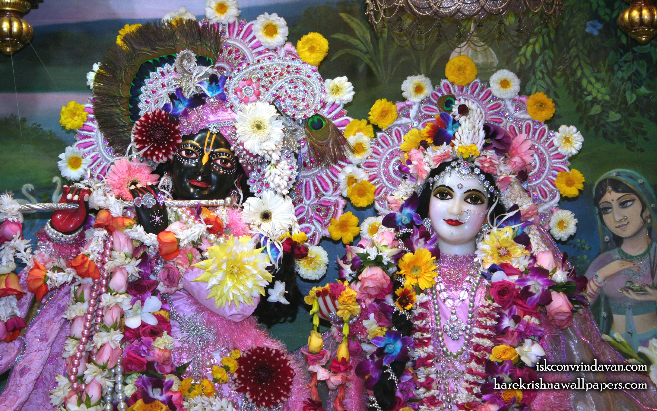 Sri Sri Radha Shyamsundar Close up Wallpaper (006) Size 2560x1600 Download