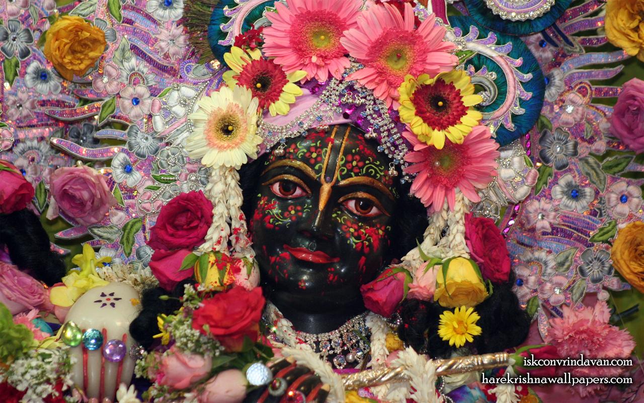 Sri Krishna Close up Wallpaper (007) Size 1280x800 Download
