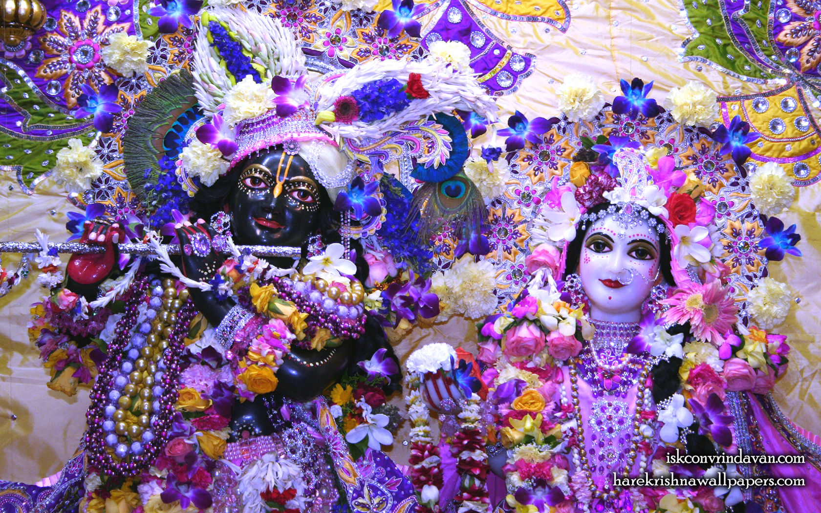Sri Sri Radha Shyamsundar Close up Wallpaper (007) Size 1680x1050 Download
