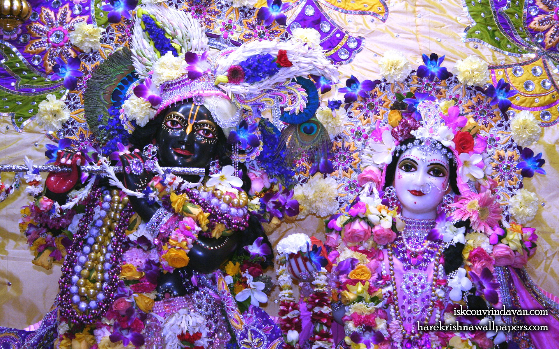 Sri Sri Radha Shyamsundar Close up Wallpaper (007) Size 1920x1200 Download