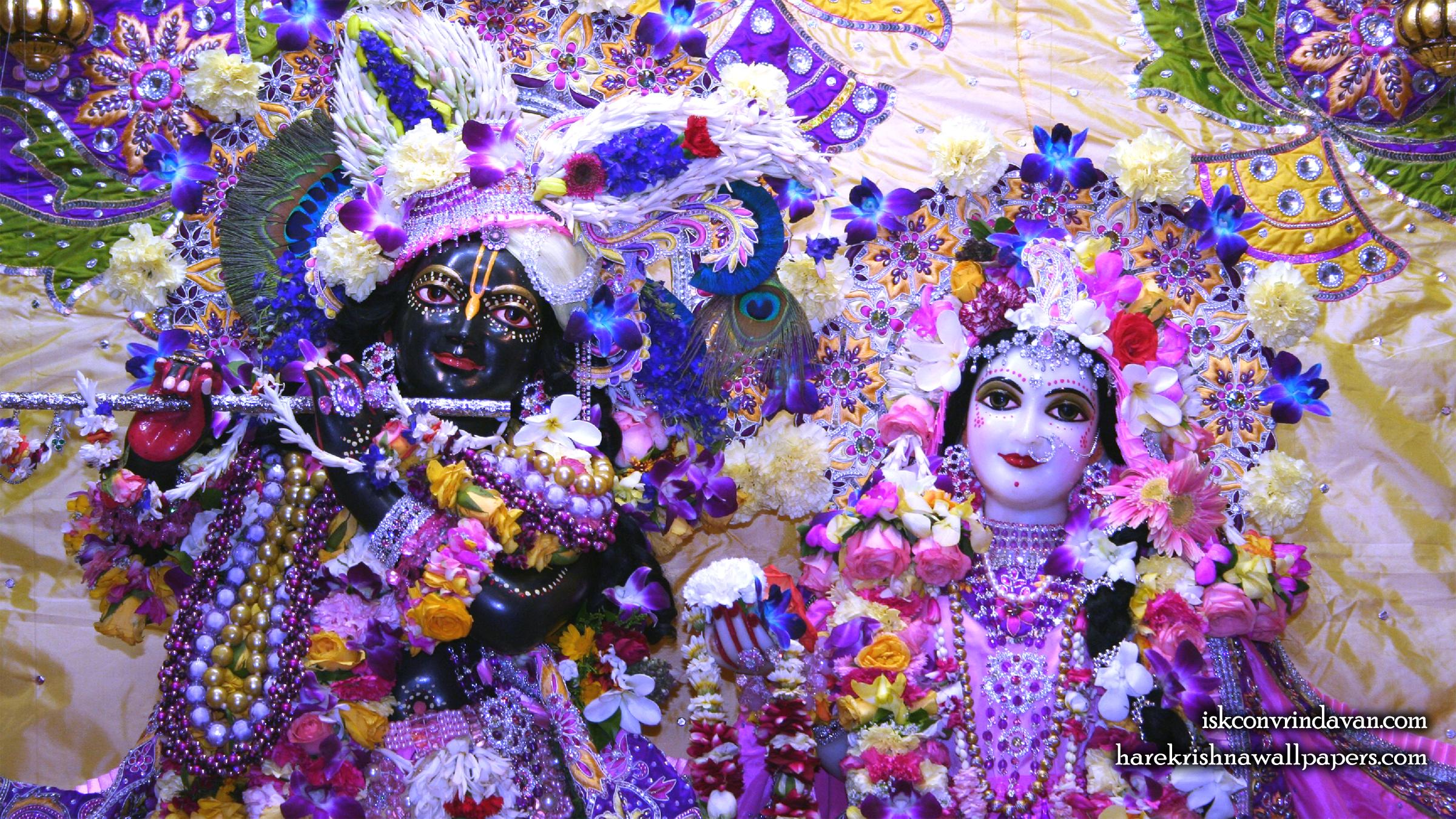 Sri Sri Radha Shyamsundar Close up Wallpaper (007) Size 2400x1350 Download