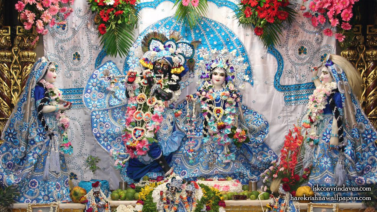 Sri Sri Radha Shyamsundar with Lalita Vishakha Wallpaper (007) Size1280x720 Download