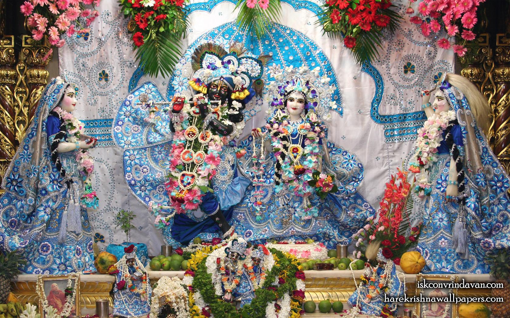 Sri Sri Radha Shyamsundar with Lalita Vishakha Wallpaper (007) Size 1680x1050 Download