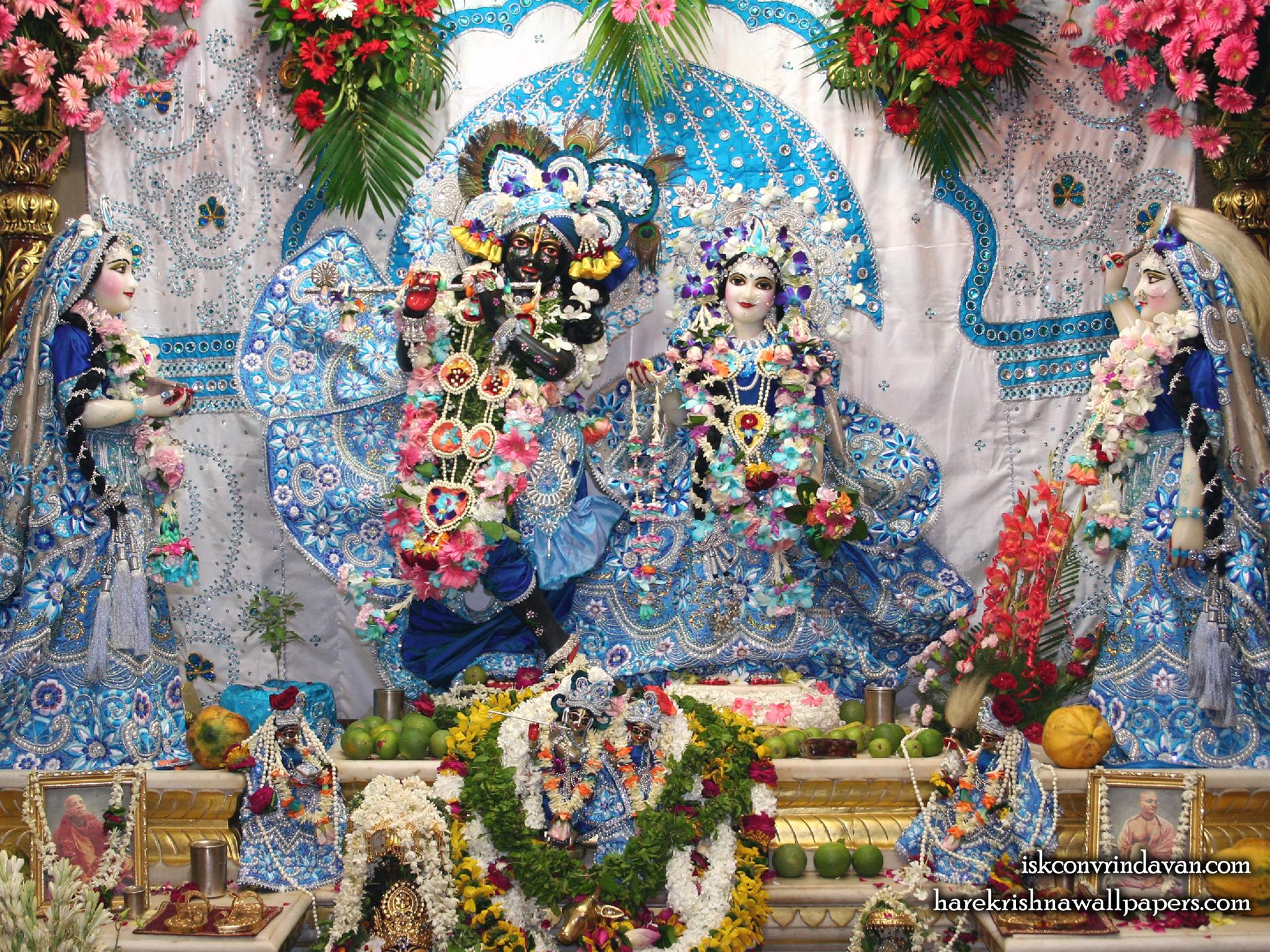 Sri Sri Radha Shyamsundar with Lalita Vishakha Wallpaper (007) Size 1920x1440 Download