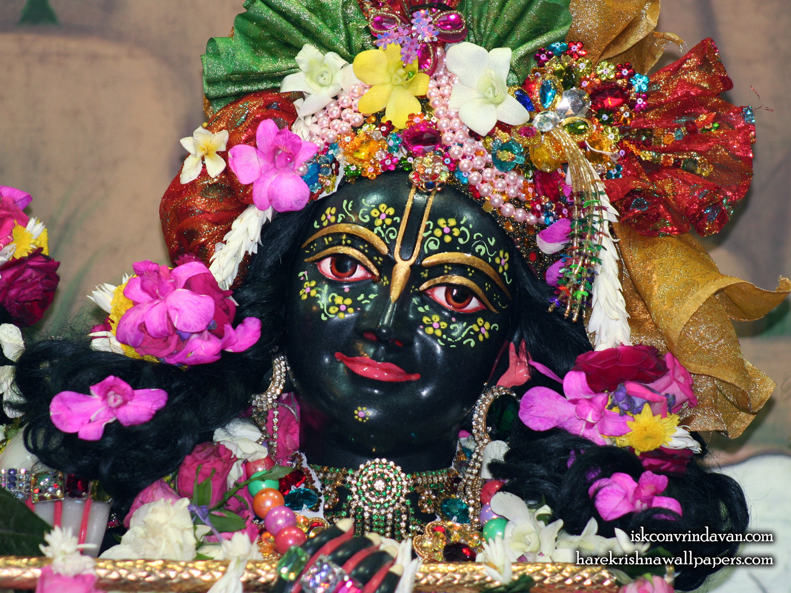 Sri Krishna Close up Wallpaper (008) Size1600x1200 Download
