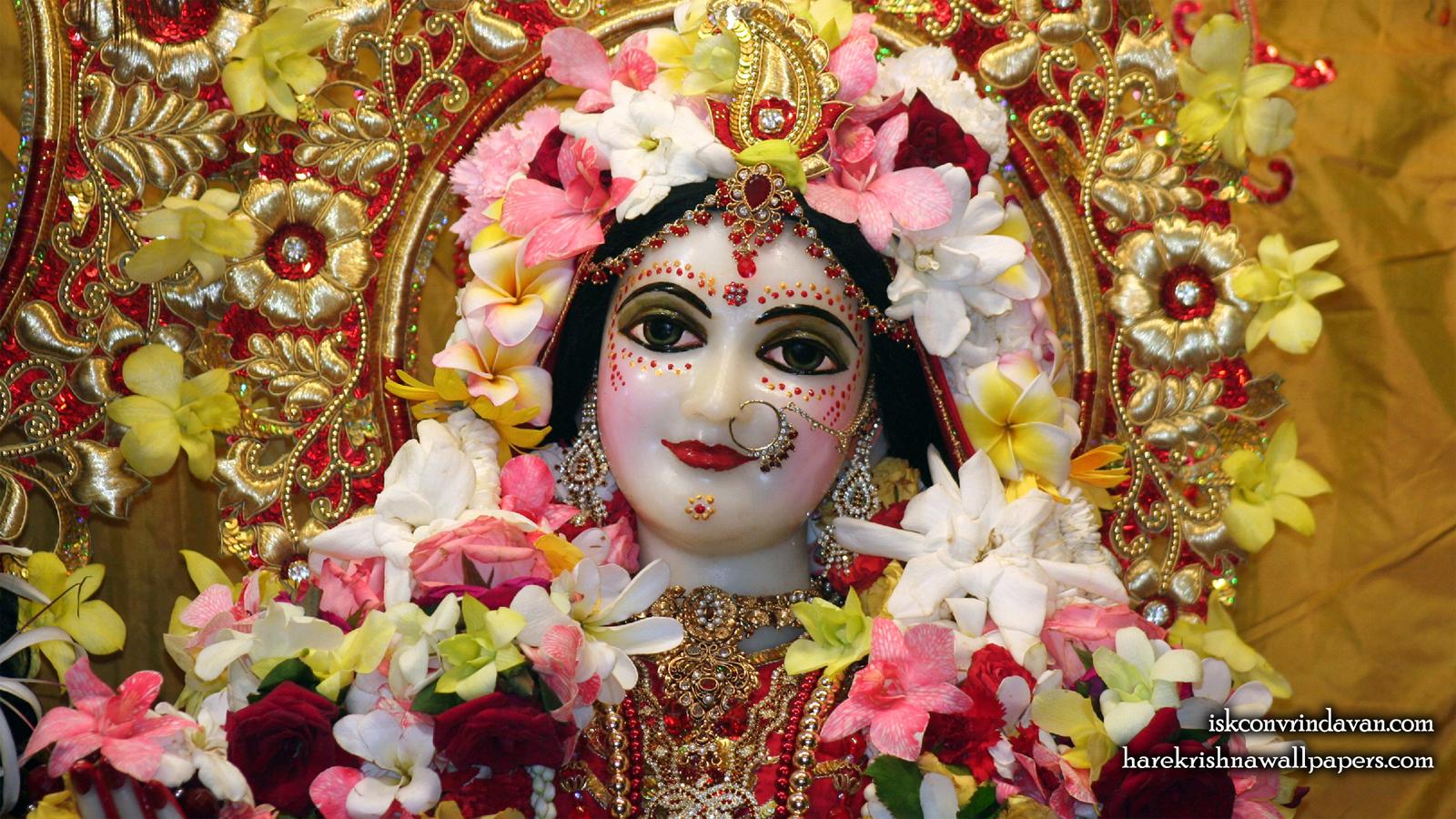 Sri Radha Close up Wallpaper (008) Size 1600x900 Download