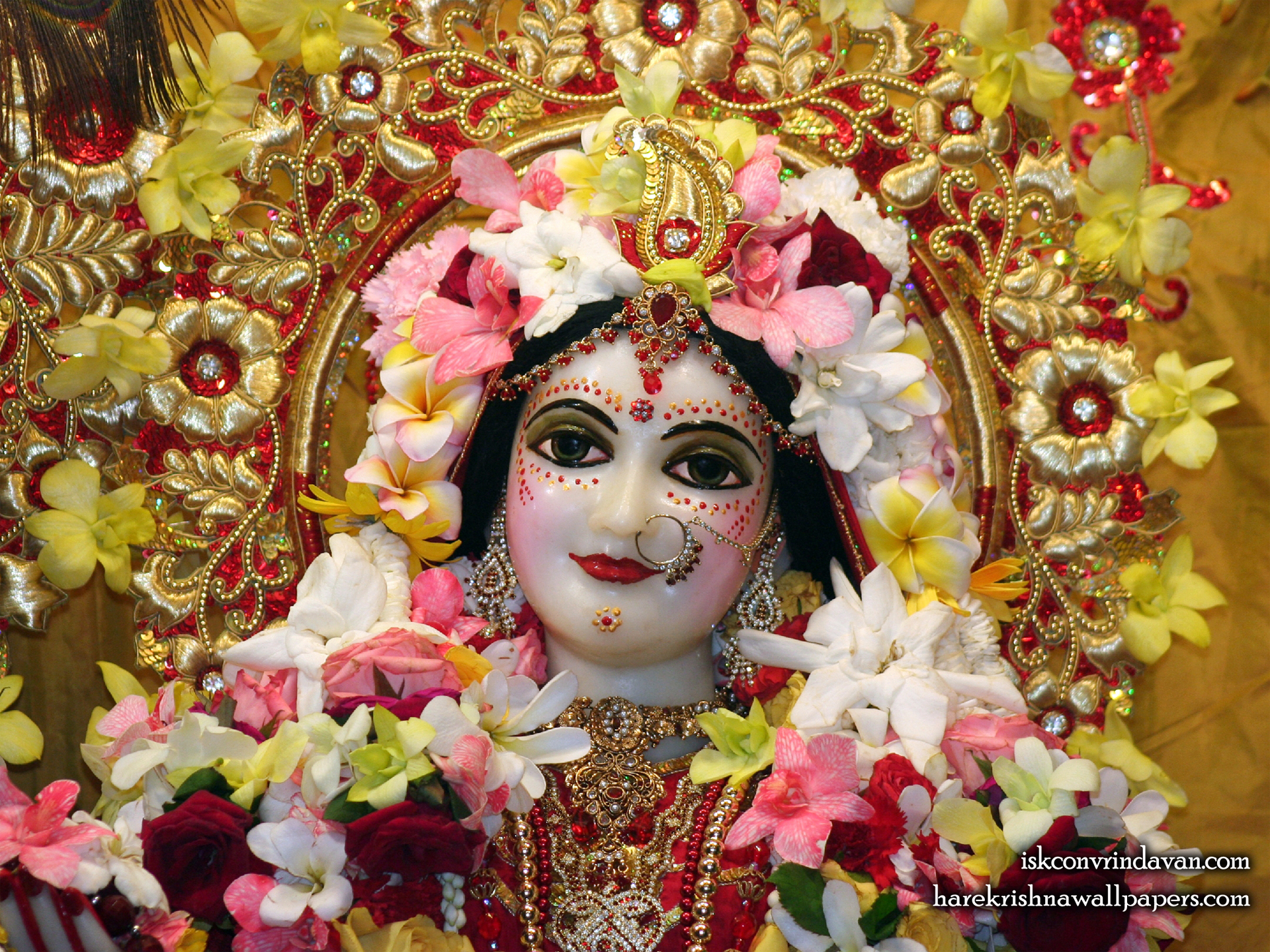 Sri Radha Close up Wallpaper (008) Size 1920x1440 Download