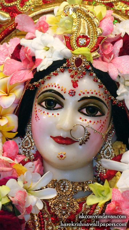 Sri Radha Close up Wallpaper (008) Size 450x800 Download