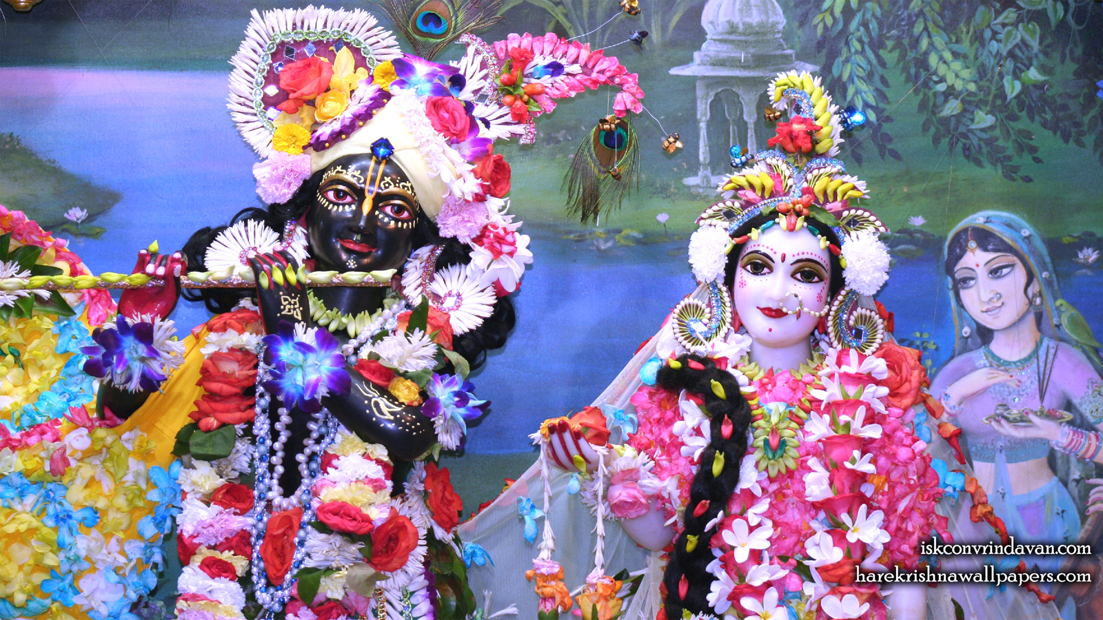 Sri Sri Radha Shyamsundar Close up Wallpaper (008) Size 1600x900 Download