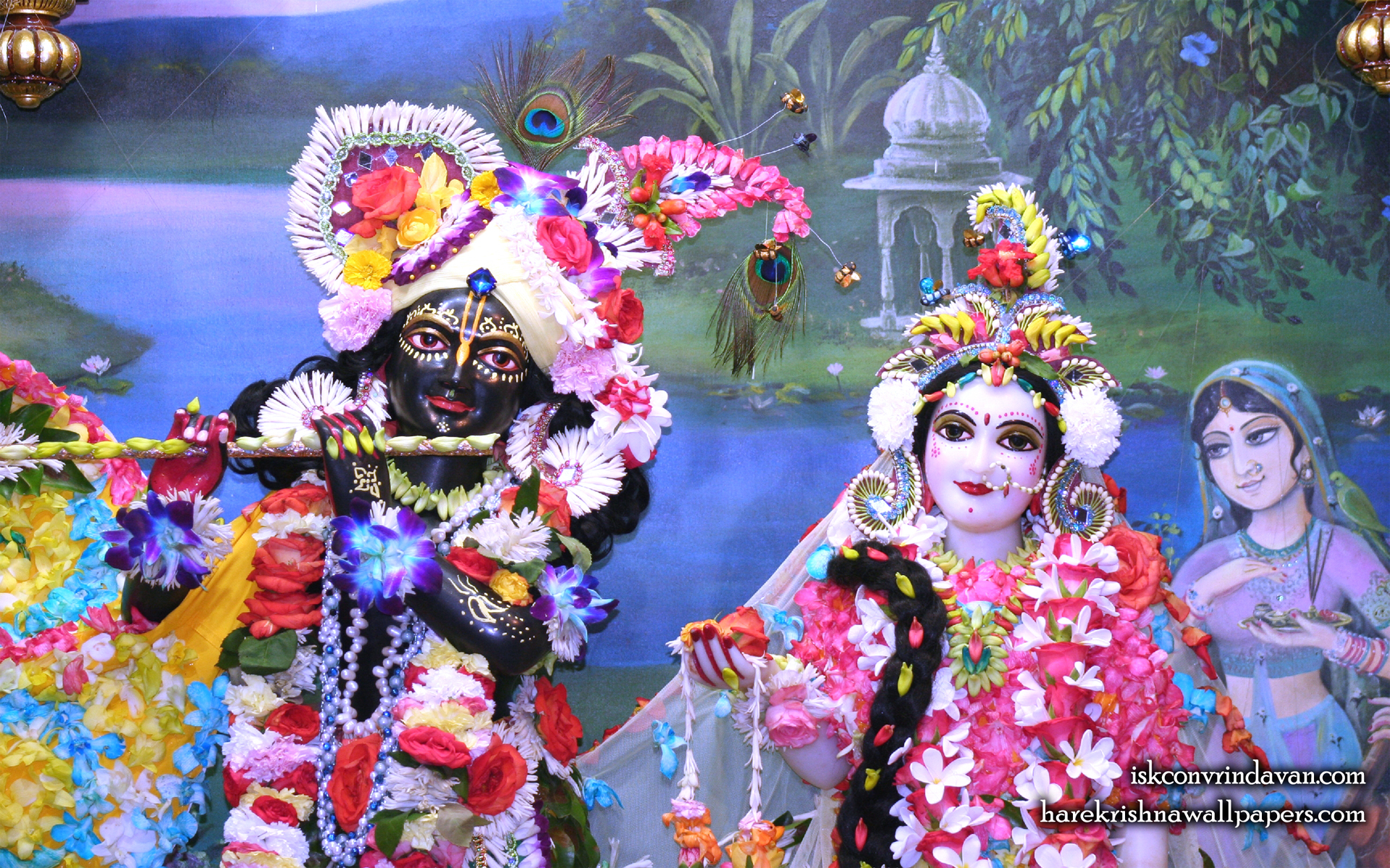 Sri Sri Radha Shyamsundar Close up Wallpaper (008) Size 1920x1200 Download